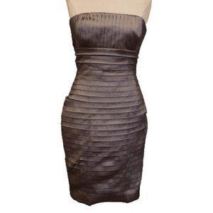 Calvin Klein Stretch Pleat Taffeta Cocktail Dress
